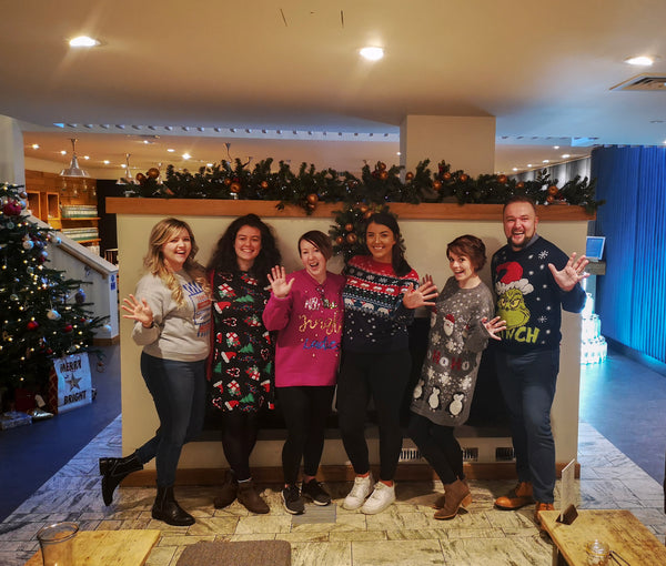 Some of our office and guest team sporting their festive knitwear.