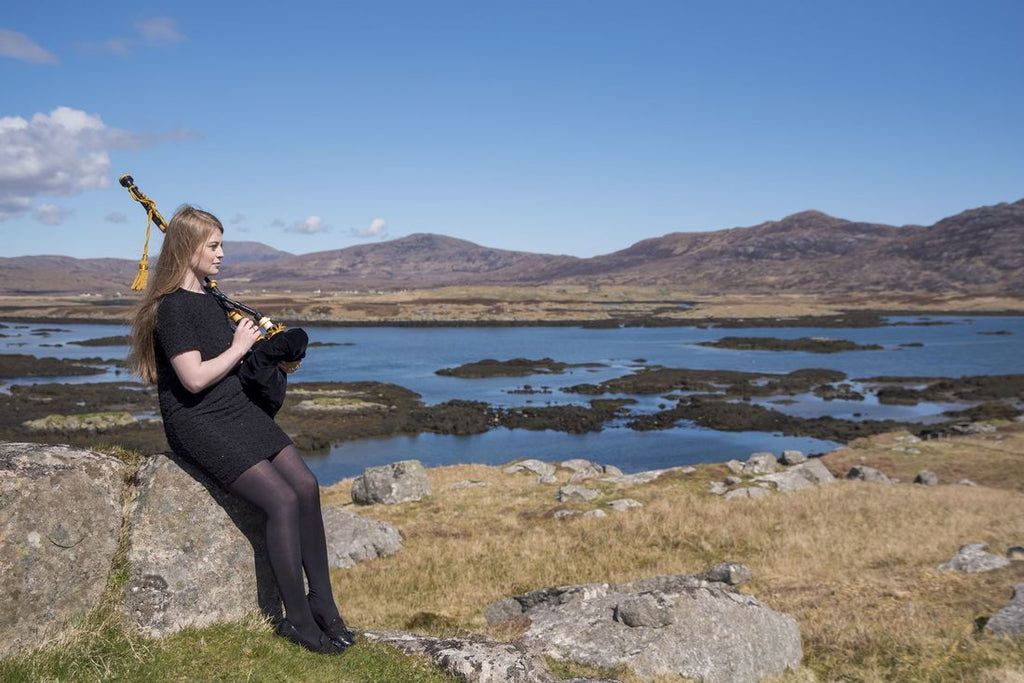 Gaelic singer and piper, Chloe Steele from South Uist.