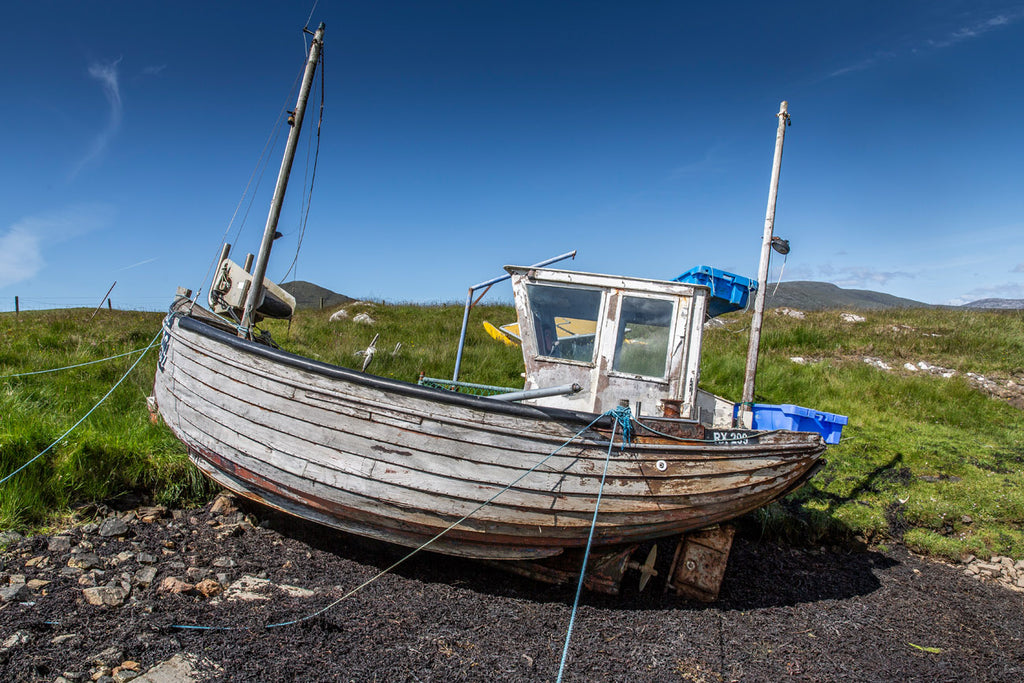 The old wooden 'Kelly Gal', few boats like her used today.