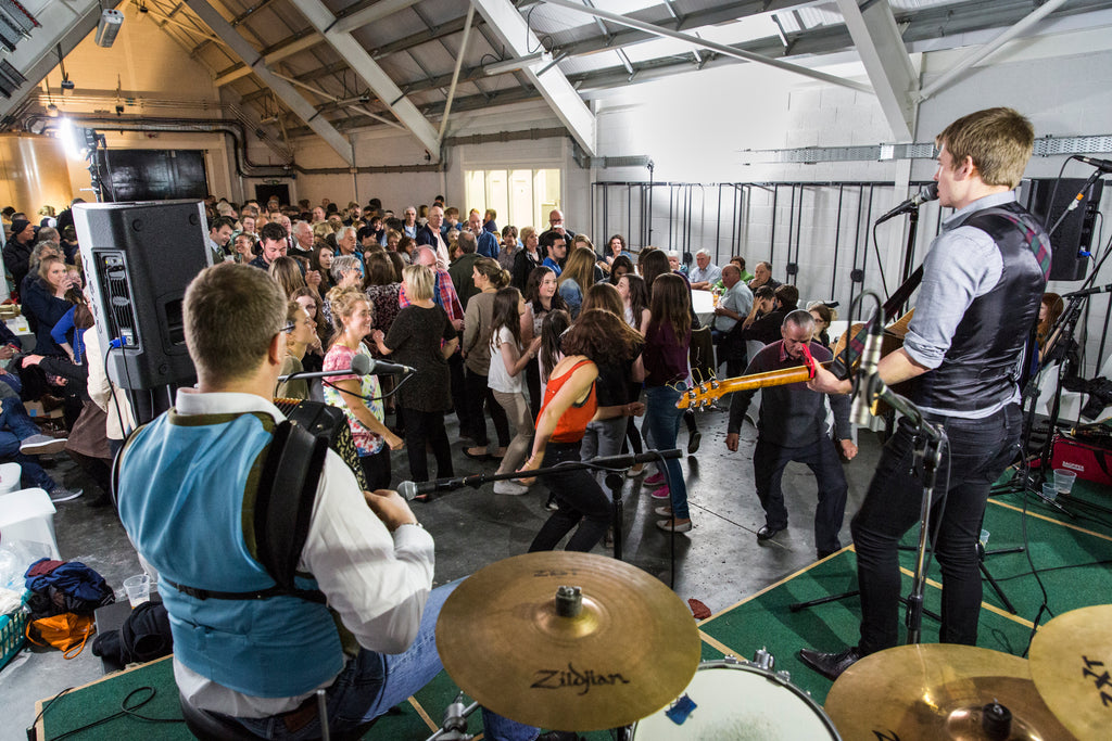 The opening day warehouse ceilidh with our community, 2015.
