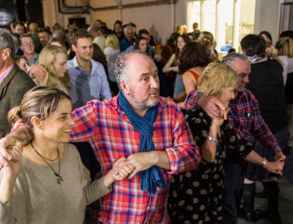 The opening warehouse cèilidh in full swing.