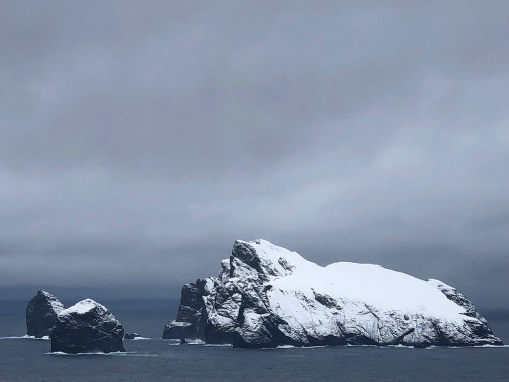 Rare snows on Boreray and the stacs, St Kilda. Image © Lachie Macleod.