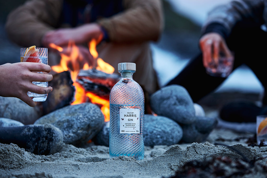 Late evening beach cook-outs, and bring a bottle of Isle of Harris Gin.