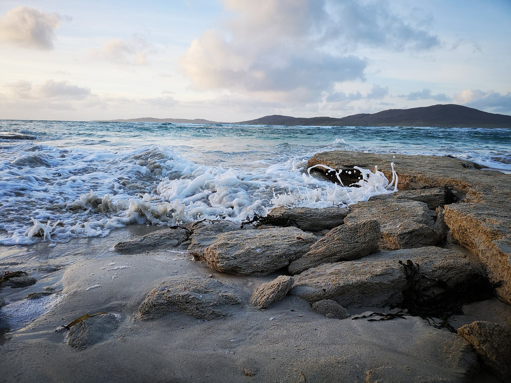Cold waves on the west coast of Harris.