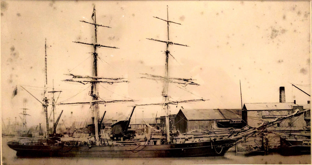 The Barque Carnarodazo whaling ship in 1867, skippered by Captain Thomas Robertson.