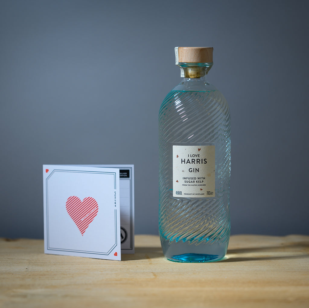 I Love Harris Gin special edition bottle.