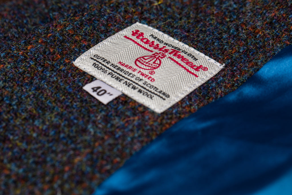 The Harris Tweed® Orb Mark, the guarantee of an authentic Outer Hebridean cloth.