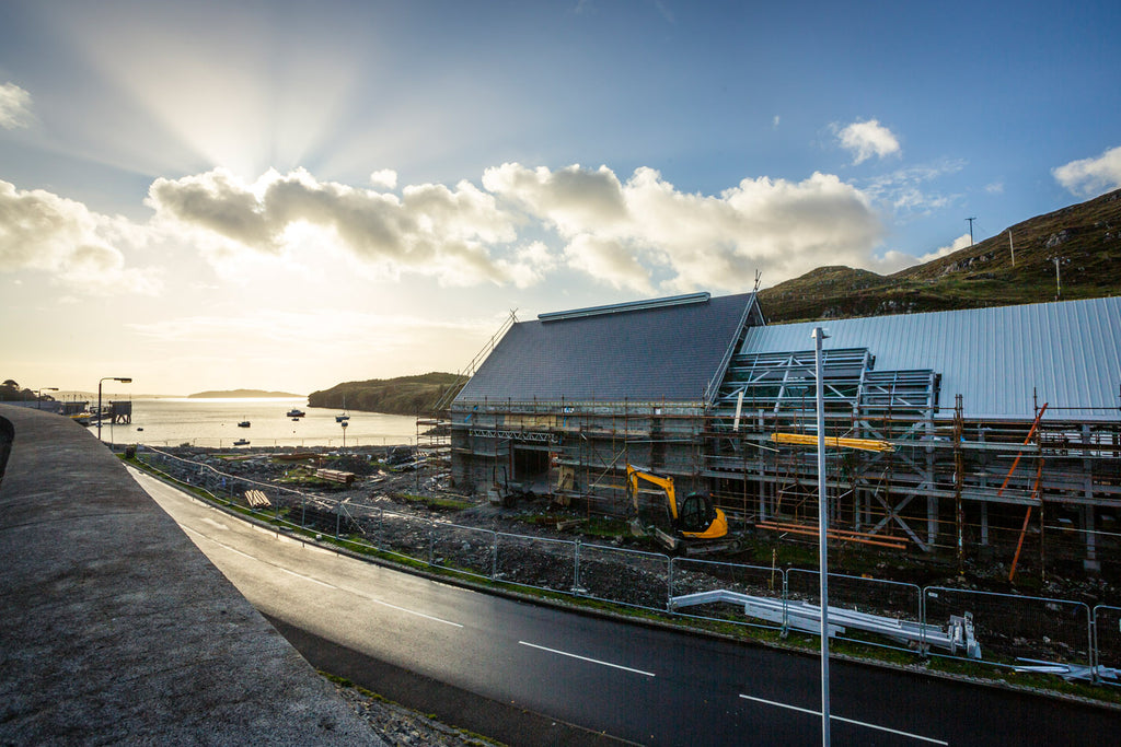 Under construction, a new dawn for the Harris Distillery.