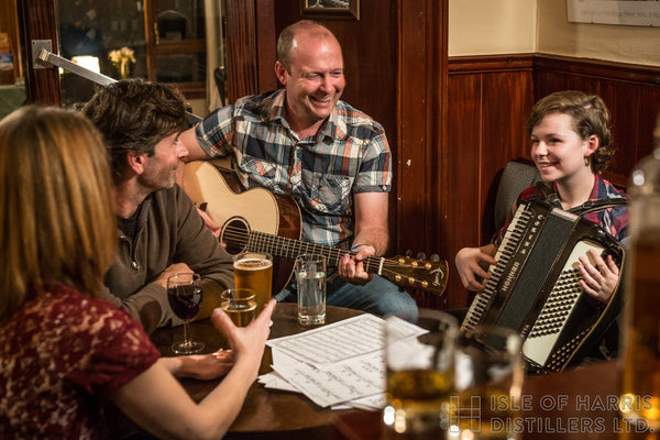 Local music moments at the Harris Hotel, Tarbert.