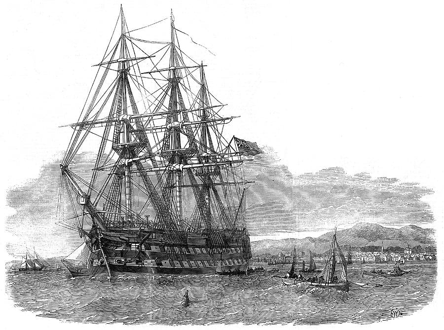 The 'Hercules' which carried 93 Harris people to Australia in 1852.