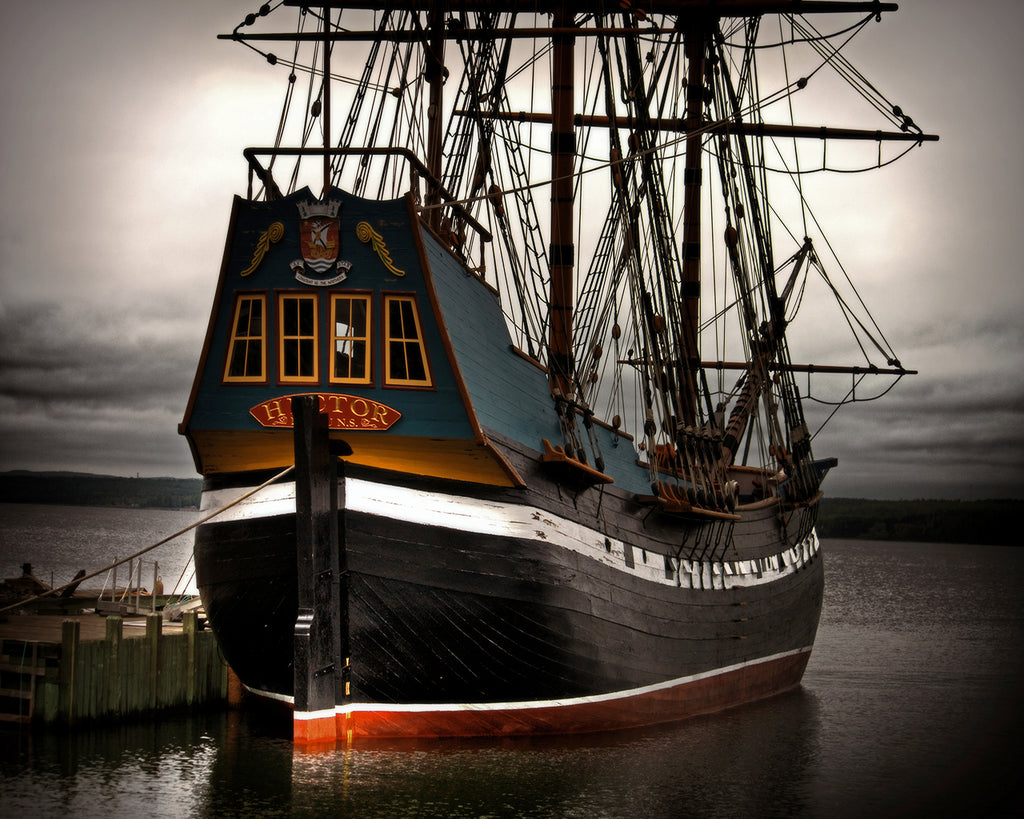 The ship 'Hector', which took the first wave of Scottish settlers to Nova Scotia, Canada in 1773.