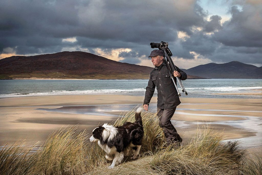 Ian Lawson and a faithful friend enjoying the freedom of Harris. Image ©️ John Maher