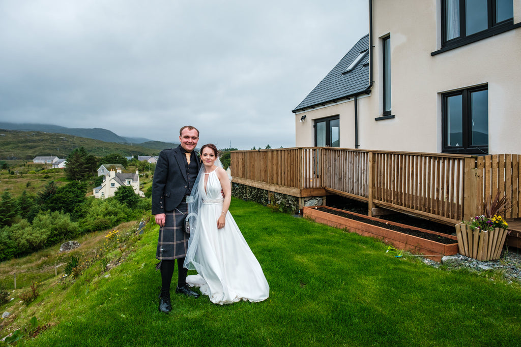 Mr and Mrs Sutton at their home in Tarbert, Isle of Harris.