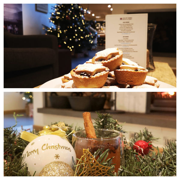 Traditional mince pies from distillery baker Mairi and Kate's mulled Isle of Harris Gin.