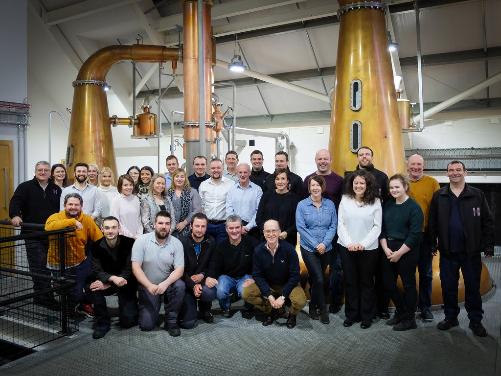 The distillery team in January 2020.