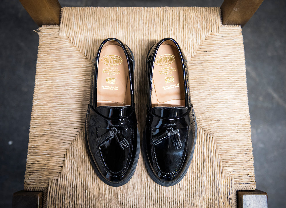 Black Patent Tassel Loafer