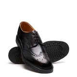 Black 4 Eye Gibson Brogue Shoe