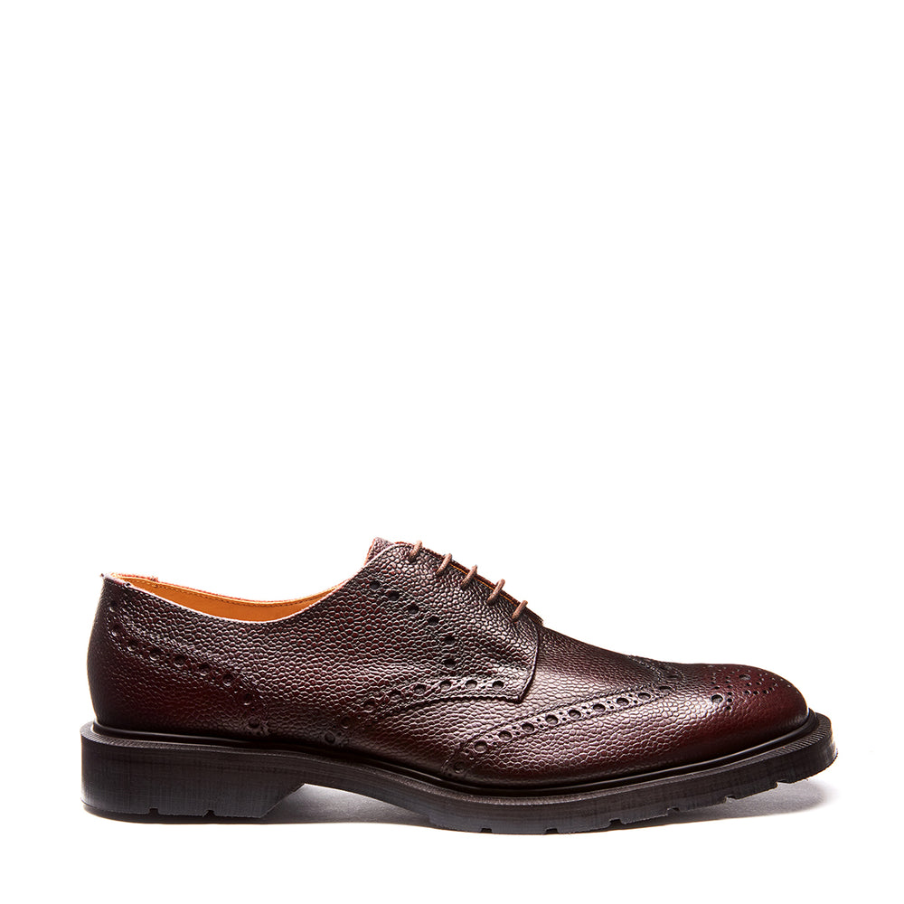 Burgundy Grain 5 Eye Gibson Brogue Shoe