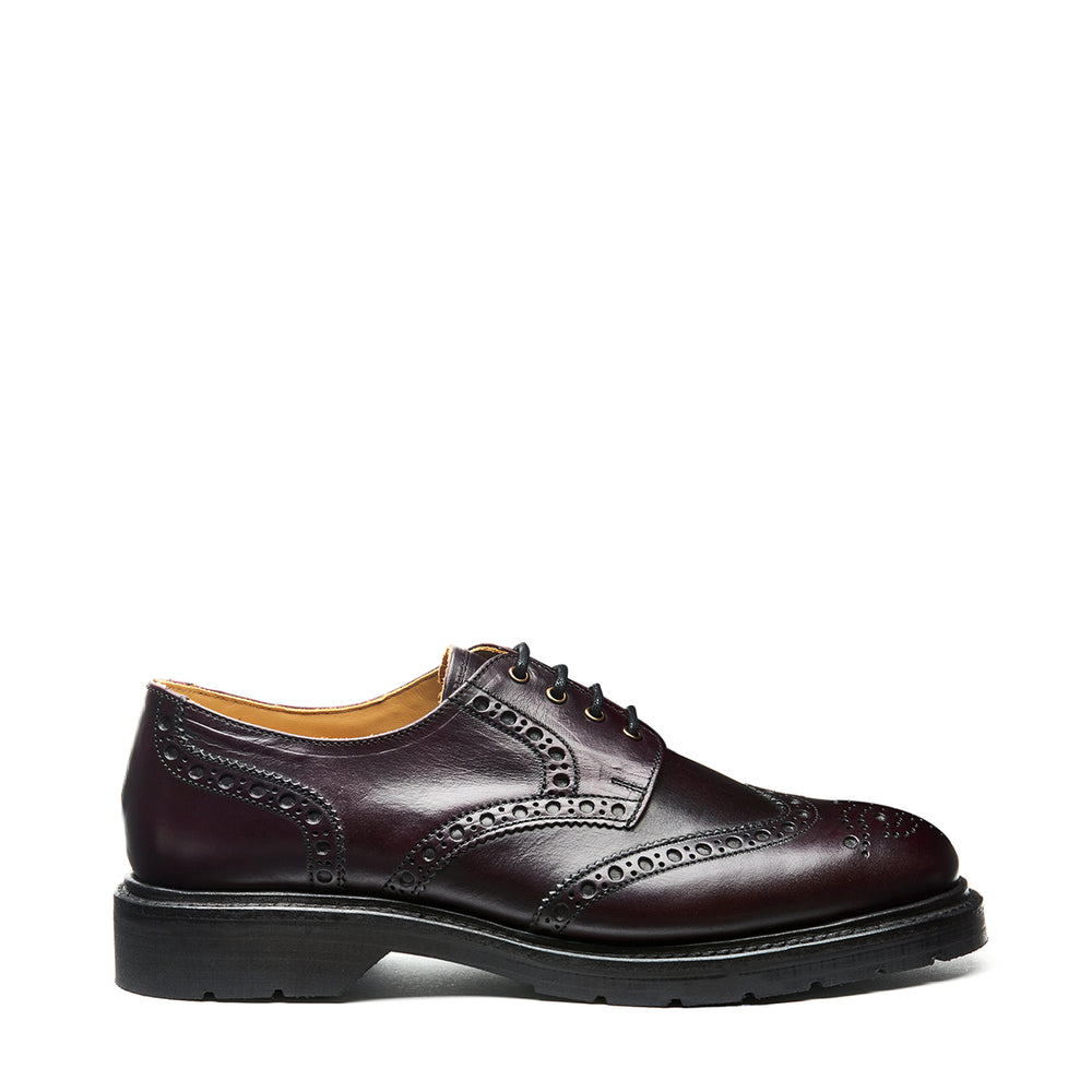 Burgundy Horween 4 Eye Gibson Brogue Shoe