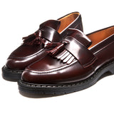 Burgundy Rub-Off Tassel Loafer