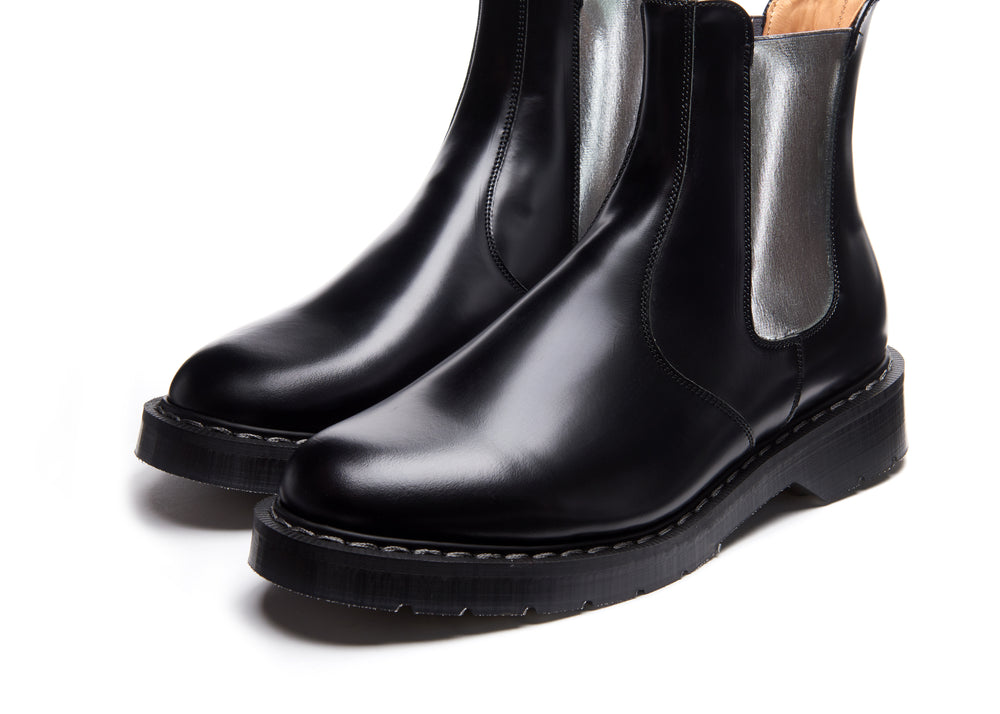 Silver & Black Dealer Boot