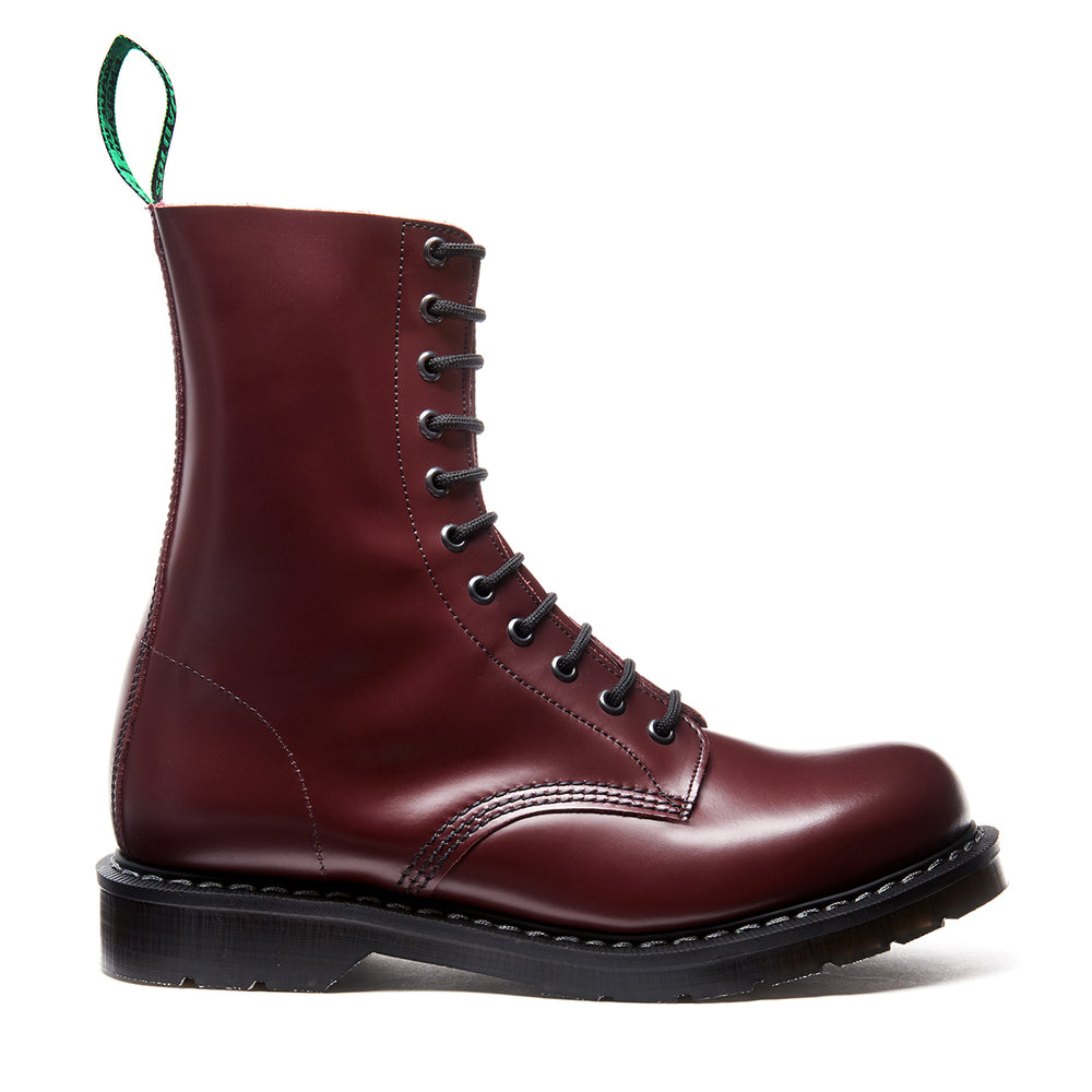 Oxblood Hi-Shine 11 Eye Derby Boot