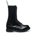 Black Hi-Shine 14 Eye Derby Boot