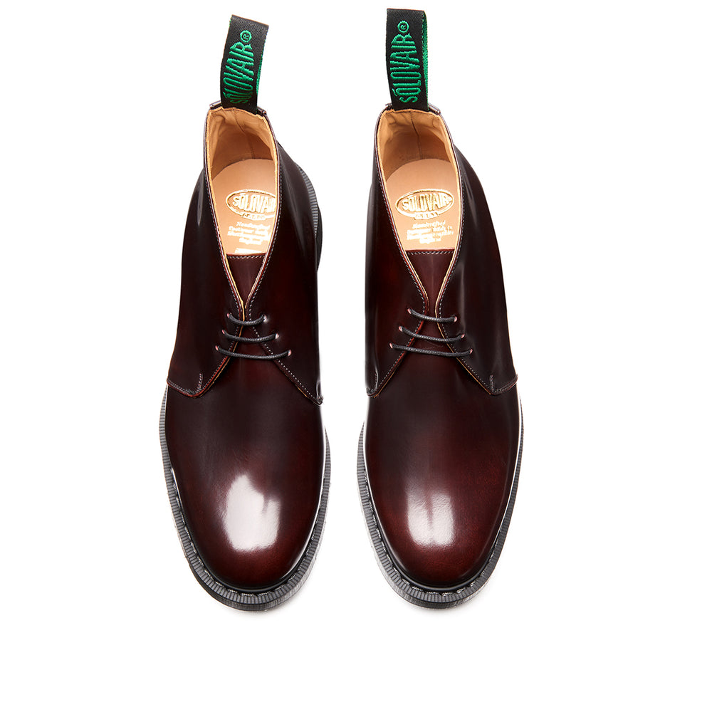 Burgundy Rub-Off Chukka Boot