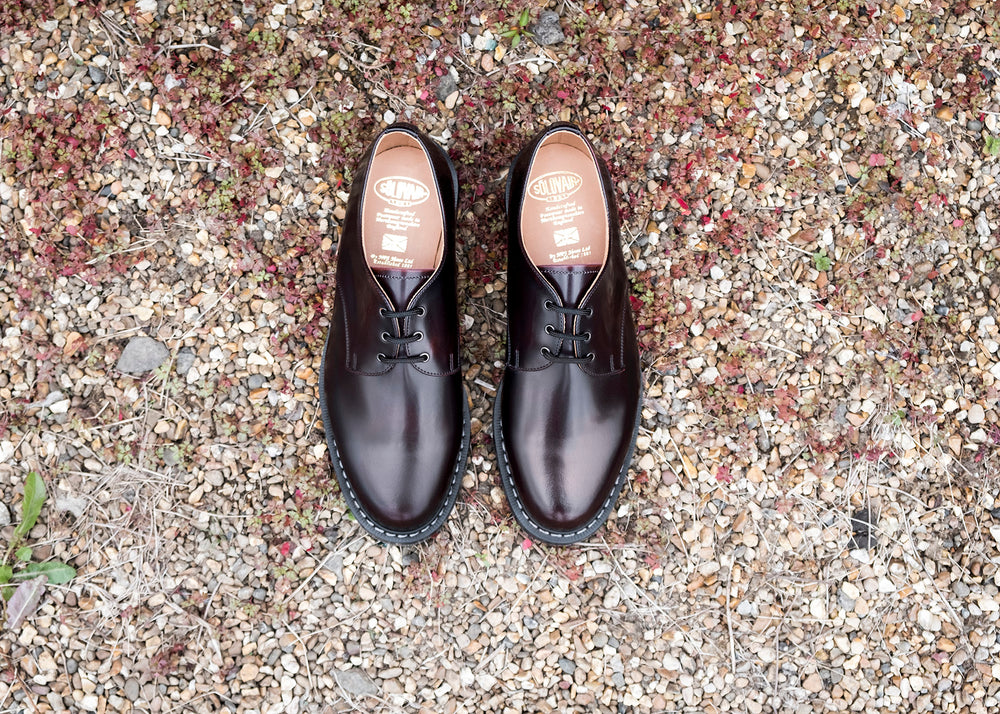 Burgundy Rub-Off Gibson Shoe