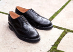 Black Hi-Shine English Brogue Shoe
