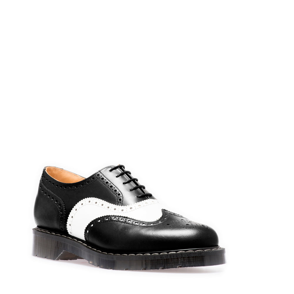 Black & White English Brogue Shoe