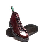 Burgundy Rub-Off Monkey Boot