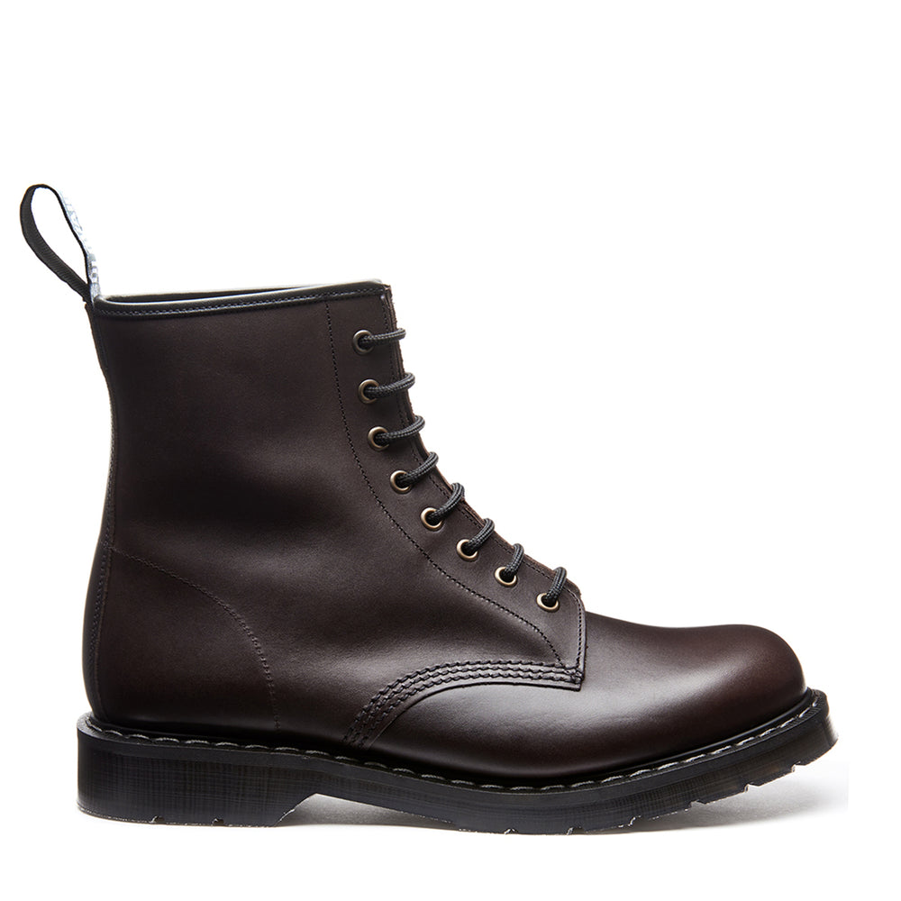 Brown Waxy 8 Eye Derby Boot