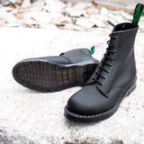 Black Greasy 8 Eye Derby Boot