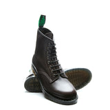 Dark Brown Waxy 8 Eye Derby Boot