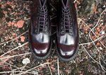 Burgundy Rub-Off 8 Eye Derby Boot