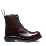 Burgundy Rub-Off 8 Eye Zip Derby Boot
