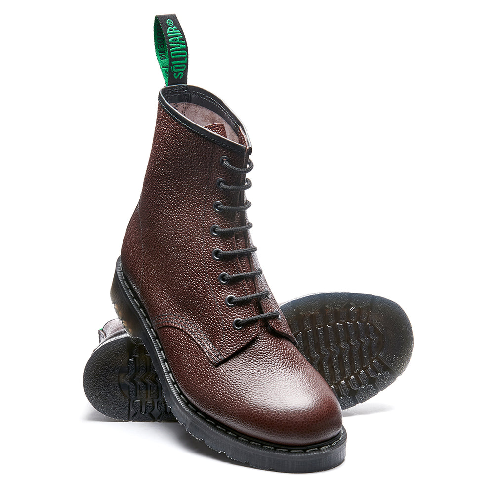 Chilli Grain 8 Eye Derby Boot
