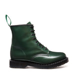 Green Hi-Shine 8 Eye Derby Boot