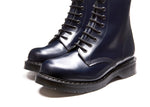 Navy Hi-Shine 8 Eye Derby Boot