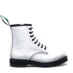 White Patent 8 Eye Derby Boot