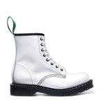 White Hi-Shine 8 Eye Derby Boot