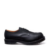 Black Greasy Steel Toe Gibson Shoe