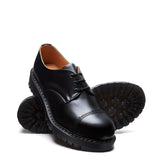 Black Hi-Shine Steel Toe Gibson Shoe