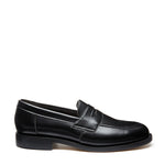 Black Vegan Hi-Shine Penny Loafer
