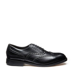 Montagne Black Vegan 5 Eye Oxford Brogue Shoe