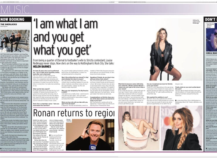 An interview with Louise Redknapp, ahead of her date at Rock City.