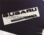 Matte Black SUBARU AWD REPLACEMENT EMBLEM 2015+ Subaru STI / WRX