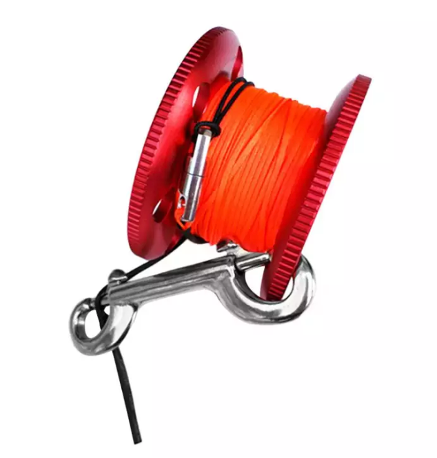 30m Line, Aluminum Alloy Finger Spool with Bolt Snap