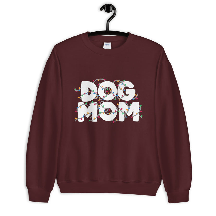 Sweatshirt - Dog Mom (String Lights)